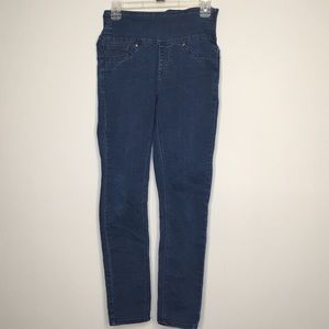 SPANX small pull on high rise denim skinny jeans